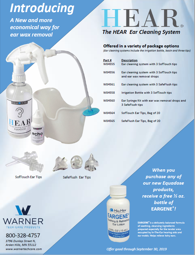 HEAR Ear Cleaning System Promotion Flyer